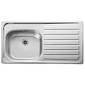 Leisure Lexin 1 Bowl Inset Kitchen Sink (Right Hand) LE95R