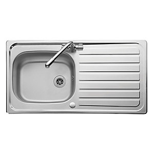 Lexin 1 Bowl Reversible Sink and Aquaflow Tap
