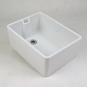 Twyford Belfast 1 Bowl Kitchen Sink 475 x 390 x 215 mm FC1211WH