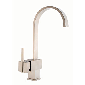 iflo Malaren Monobloc Mixer Lever Kitchen Tap (Brushed Steel)