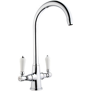 iflo Vattern Monobloc Traditional Brass Chrome Kitchen Tap
