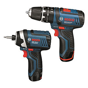 Bosch GDR 10.8-LI Impact Driver and GSB 10.8-2-LI Professional Combi Drill Twin Pack