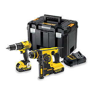 Dewalt Speed Combi Drill SDS Kit DCK206m2T-GB