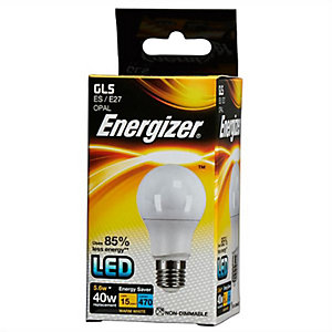 Energizer S8859 470LM 5.6W Warm White Gls E27 LED Lamp