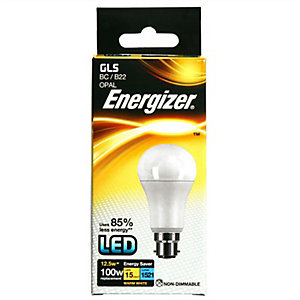 Energizer S8865 1521LM 12.5W Warm White Gls B22 LED Lamp