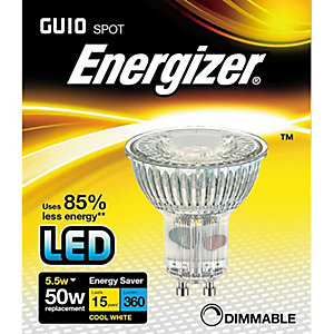 Energizer S9411 350LM 5.5W Cool White Full Glass GU10 Dimmable LED Lamp