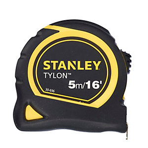 Stanley Tylon Measuring Pocket Tape 5M/16 Feet (19mm) 0-30-696
