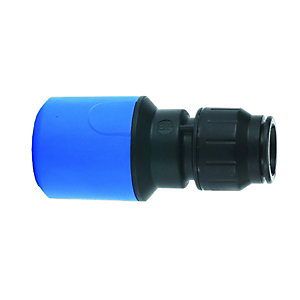 JG Speedfit Straight MDPE Connector Blue 25mm x 22mm