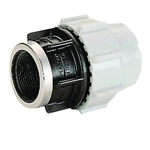Plasson Mechanical Female Adaptor 25 mm x 1 inch 7030D30