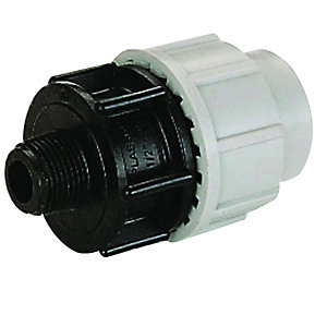 Plasson Mechanical Male Adaptor 25 mm x 1/2 inch 7020D10