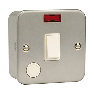 Essentials CL023 20A Dp Switch with Optional Flex Outlet & Neon