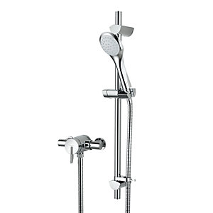Bristan Sonqiue2 Thermostatic Mixer Shower with Adjustable Riser Kit - SOQ2 SHXAR C