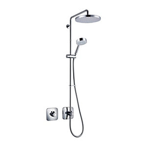 Mira Adept Plus Thermostatic Mixer Shower (Concealed with Large Fixed Head & Diverter) 1.1736.415