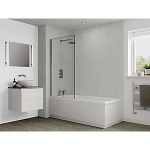 Multipanel Classic Bathroom Wall Panel Hydrolock Frost White