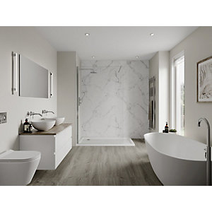 Multipanel Linda Barker Collection Bathroom Wall Panel Hydrolock Calacatta Marble