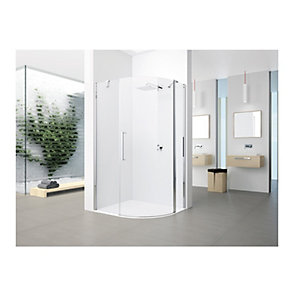Novellini Young Clear Glass Offset Quad Shower Enclosure 2000mm x 800mm Y2R1A12080-1K