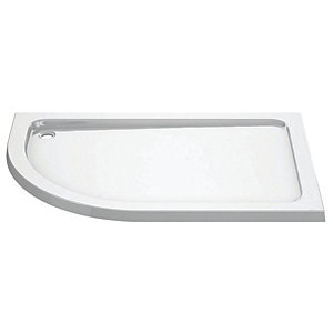 iflo 1000 x 800 mm Left Hand Offset Quadrant Abs Slimline Shower Tray
