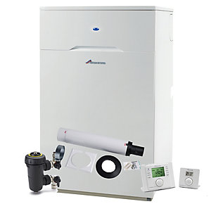 Worcester Heatslave 2 12/18kW Oil Combi Boiler ERP & Telescopic Flue with Filter & Control Pack