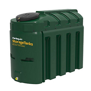 Harlequin 1300ITE High Specification Bunded Slimline Oil Tank Complete & Tankpack