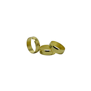 4TRADE 22mm Brass Olives (Pack of 10)