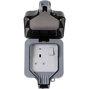 Bg 1 Gang IP65 Outdoor Switched Socket WP21-01