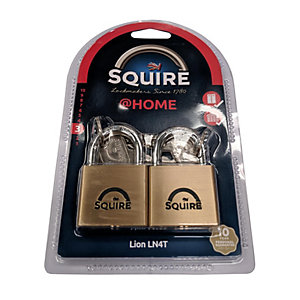 Squire LN4T Lion Padlock Brass 40mm Twin Keyed Alike