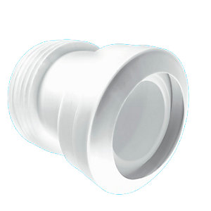 McAlpine 14 Degree Angle Macfit WC Connector White MAC-7A