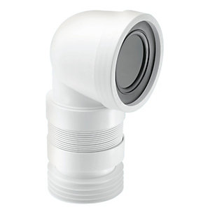 McAlpine 90 Degree Flexible WC Connector (Short)
