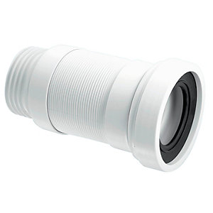 Mcalpine Wc-F18R Short Flexible Wc Connector To Suit 110mm Soil Pipe