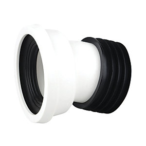 Wavin Easy-Fit Pan Connector 14Deg 4 White Wc144