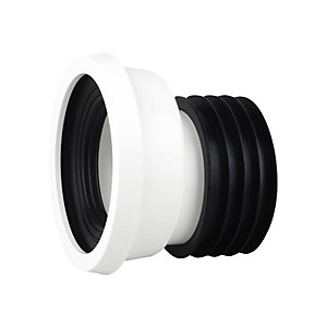 Wavin Easy-Fit Pan Connector Offset 4 White Wc204