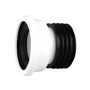 Wavin OsmaSoil Easy-Fit Pan Connector Straight White 4in WC004W