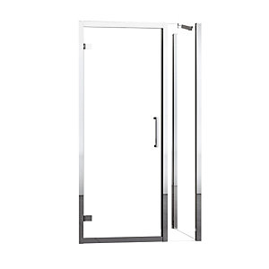 Novellini Kuadra G+1F Pivot Door Shower Enclosure Pack 1380 - 1440 mm KUADGF138-1K