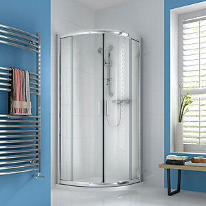 iflo Ravana Curved Quadrant Sliding Shower Enclosure 900 x 900 mm