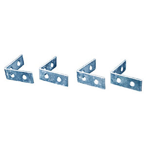 4TRADE Corner Braces Zinc Plated Pack of 4 75mm