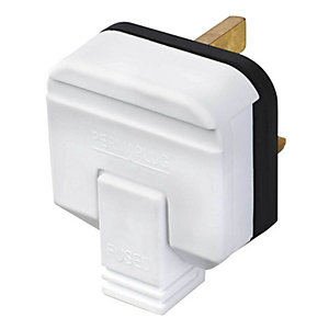 Masterplug HDPT13W-01 White 13A Heavy Duty Rubber Plug