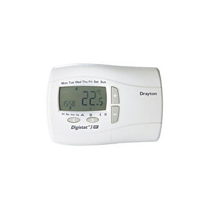 Drayton 22087 Digistat+3 7 Day Programmable Room Thermostat Mains