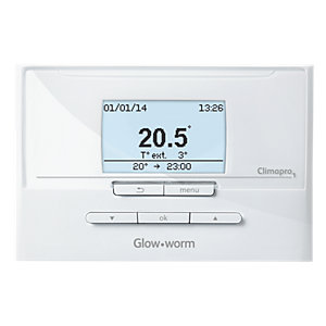Glow-worm 20118077 Climapro1 Controller 2 Channel Programmable Room Thermostat