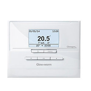 Glow-worm 20118078 Climapro1 RF Controller & Receiver Programmable Wireless Room Thermostat