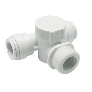 JG Speedfit Appliance Tee White 15mm x 3/4in 15APT2
