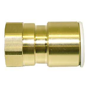JG Speedfit Brass Female Coupler 15mm x 1/2in MW451514N