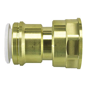 JG Speedfit Brass Female Cylinder Adaptor 22mm x 1in 22CFA