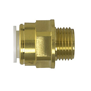 JG Speedfit Brass Male Coupler 15mm x 1/2in 15MC