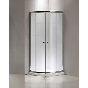 Curved Quadrant Sliding Shower Enclosure 800 mm