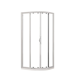 Novellini Lunes Clear Glass Curved Quadrant Sliding Door Shower Enclosure 1900mm x 770m-800mm LUNESR80-1K