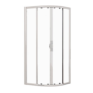 Novellini Lunes Curved Quadrant Sliding Door Shower Enclosure 870 - 900 mm LUNESR90-1B