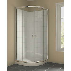 Standard Curved Quadrant Sliding Door Shower Enclosure 900 mm