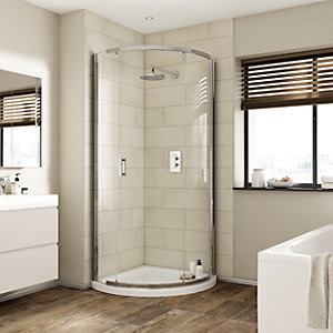 iflo Alamere Frameless Quadrant Shower Enclosure 910 mm