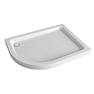 Mira Flight Offset Quadrant Shower Tray 1000 x 800 mm (Left Hand) 1.1783.044.WH