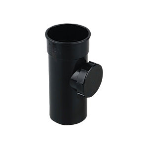 Osma 0T274 Roundline Guttering And Rainwater System Black Access Pipe